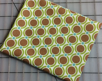 Joel Dewberry -Modern Meadow - FAT QUARTER CUT of Acorn Chain - JD32 Timber - Small brown circles, green with teal dots