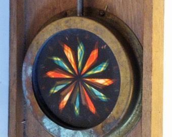 Vintage Kaleidoscope - Magic Lantern Kaleidoscope Slide - Antique Kaleidoscope - Magic Lantern Glass Chromotrope - Glass Kaleidoscope