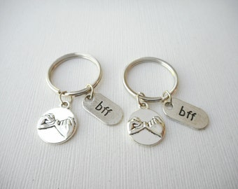 2 Pinky Promise, BFF- Keychains/ Pinky Promise Gift, Pinky Promise Jewelry, Set of 2, Pinky Promise Keychain, Sister Gifts