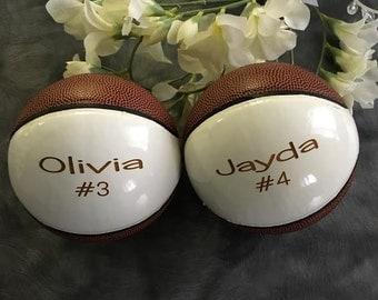 Personalized Mini Basketball, Ring Bearer Gift, Groomsman Gift, Wedding Gift