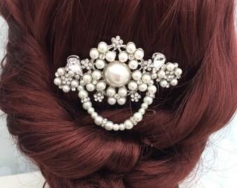 1920s headpiece - Art deco - hair comb - Vintage style hair comb - Wedding hair comb - Bridal Hair Accessories - wedding headpiece - wedding