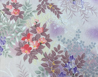 Vintage Kimono Fabric - Wisteria - Rinzu