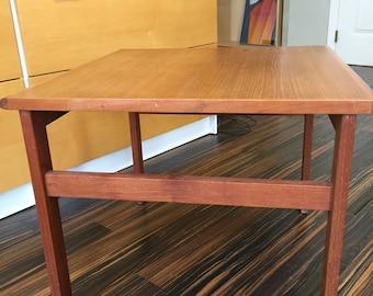 SALE-2017-Danish MCM Teak End Table Nice