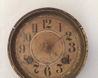 Vintage Steampunk brass clock
