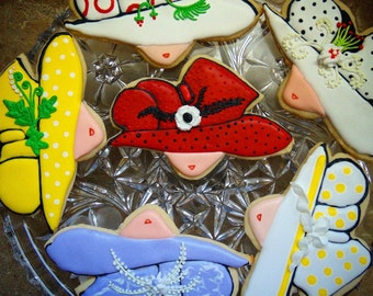 12 Kentucky Derby Hat Cookies