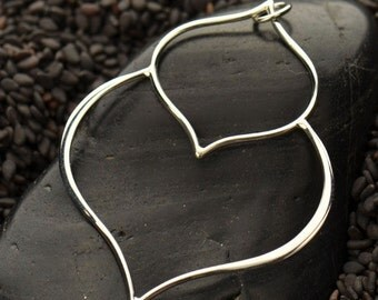 Sterling Silver Double Lotus Petal Pendant