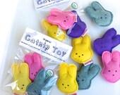 Organic Catnip Pastel Bunny Easter Gift Set of 3 Toys