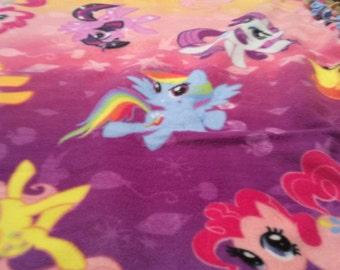 My little pony tie blanket