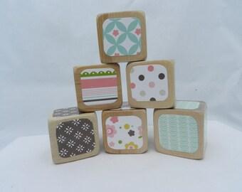Baby Shower DIY Wooden Blocks Baby Block Decorating Kit