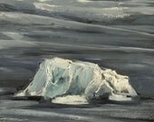 Iceberg at Midnight #2 - Original Acrylic Painting
