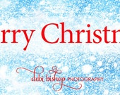 Merry Christmas - Facebook Timeline Cover For Your Personal Page -Winter Snow & Blue Sky Nature Scene -Instant Download
