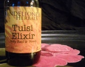 Tulsi Elixir: Holy Basil Herbal Remedy for Stress and Immune Support / AdaptogenTincture