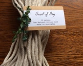 Natural 5mm cotton macrame cord