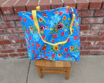 Oilcloth beach bag etsy for Au maison oilcloth