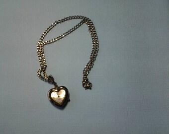 Gunmetal Heart Watch Necklace