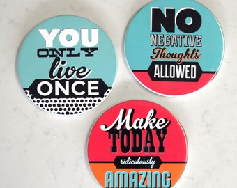 Inspirational Sayings Ceramic Drinks Coaster