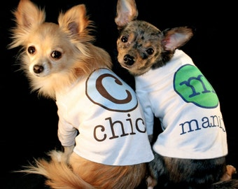 Dog Shirt Name and Initial Personalized Custom Name Initial Puppy Dog Pet Tee T Shirt