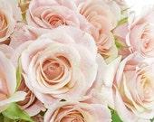 Gold  rose - Classic Bead Crochet Bracelet Beaded Bracelet Flower Bracelet Pink Green Gold