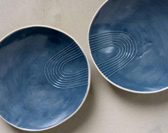 Small Ceramic Bowl, Ceramic Serving Tray,Appetizer Plate,Gray Soup Bowl ,Breakfast Bowl,Pasta Bowl,Modern Serving Dish, Stoneware Dinnerware