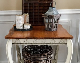 Vintage Country French Large Side Table Entry Table Pick Up Only