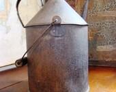 Antique Railroad oil can - Home Decor - 1871 oil - vintage oil can - farming oil can - large oil can - vintage accessories - rustic decor