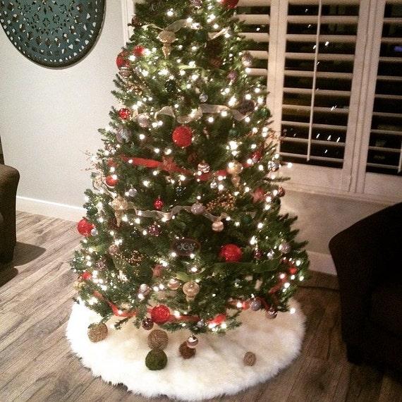 2' Shaggy Faux Fur Christmas Tree Skirt By NotTooShaggy On