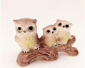 So Cute 1970s Owl Big Eye Kitsch Figurine- Ornament Mid Century