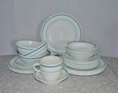 Pyrex Blue Stripe Dinnerware ~ Pyrex Restaurant Ware ~ Corning Ware Dishes ~ Epsteam