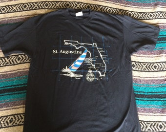Vintage St. Augustine Florida Sailboat T-Shirt