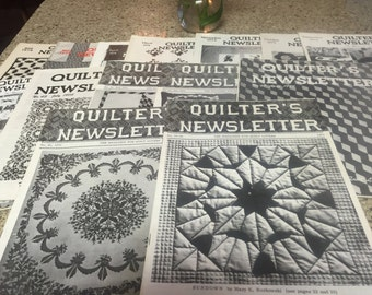 Vintage Quilter's Newsletters from early 1970's Lot of 13