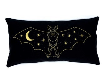 Gold Creature of the Night Pillow