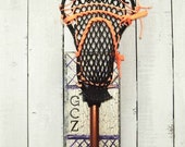 Lacrosse Stick Hanger Single Handmade  Handpainted School Lax Athletic Team Sports Custom Colors MTO Personalized Initials Wall Rack