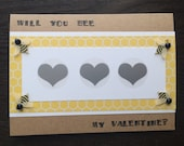 Scratch off card - Will You Bee My Valentine?