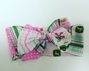 John Deere Pink Head Wrap