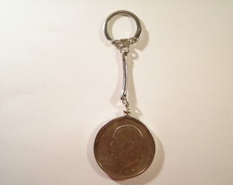 1 Silverplatred Eisenhower Key Chain Coin Holder Bezel