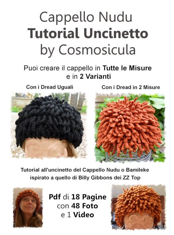 Knitting Pattern For Nudu Hat : Italian Version. Tutorial PDF Crochet Pattern for my Hat, Inspired Nudu hat, ...