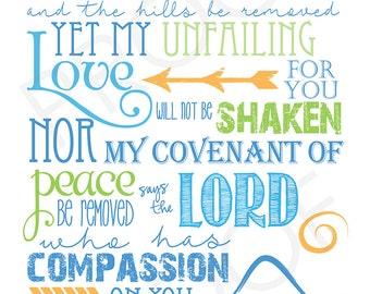 Scripture Art - Isaiah 54:10