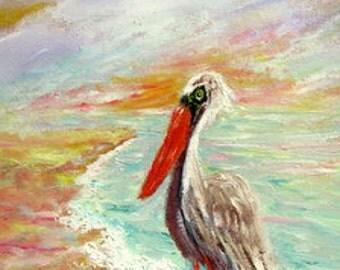 Pelican Way     11 x  14  Original  Oil  Painting  by  Delaware  atrtist  Sheila E. Townsend