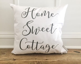 Home Sweet Cottage Pillow Cover