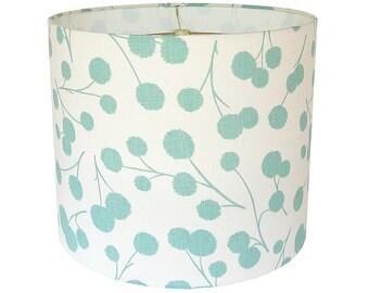 custom lamp shade burnet by thom filicia for kravet in ocean blue aqua