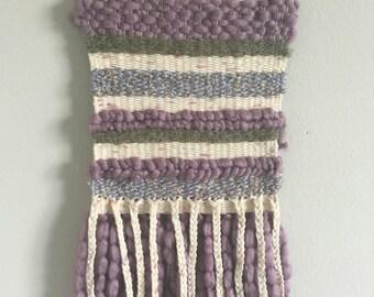 Margo  |  Lavender & Cream wall hanging