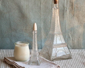 Eiffel Tower Vintage Glass Jar