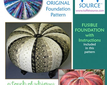 pieced 18 tuffet foundation pattern with guide download