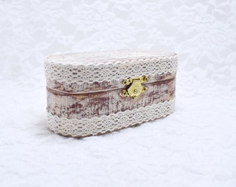 Ring Box, Ring Bearer Box, Ring Bearer Pillow, Ring Box, Wedding Ring Box, Rustic Lace Proposal Ring Box Linen Pillow Wooden Engagement Ring