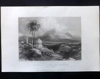 Finden 1836 Antique Print. The Plain Of Jezreel Or Esdraelon, Israel