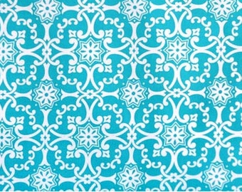 LAST YARD Nancy Blue Aqua - Jennifer Paganelli Sis Boom - So St. Croix-Nancy - Free Spirit  Wesminster Fibers Rowan -  Fabric # JP30
