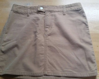 Courderoy Beige Skirt  Gap Medium