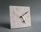 Upcycled paper desk clock • Paper anniversary gift for couple • Eco friendly home decor • New home owner gift