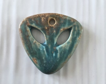 Handmade ceramic pendant, stoneware pendant