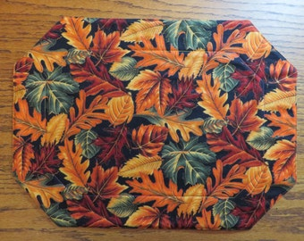 Fall Placemats  Reversible Placemats  Thanksgiving Placemats  Fall Leaf Placemats  Autumn Placemats    Fall Decor  Quilted Placemats